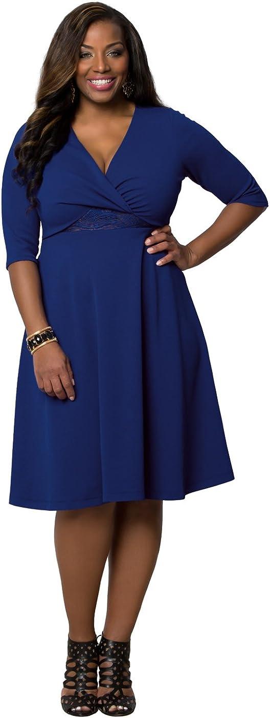 Kiyonna Women's Plus Size Peek-A-Boo Perfection Dress
