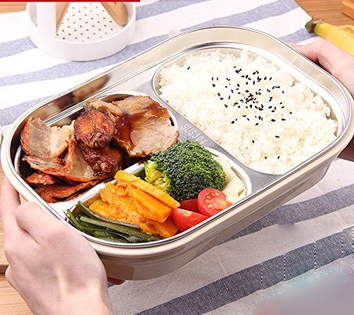 MDRW-Stainless Steel Warmtebehoud Kinderen Volwassen Bento Box Draagbare Fruit Fresh-Keeping Box
