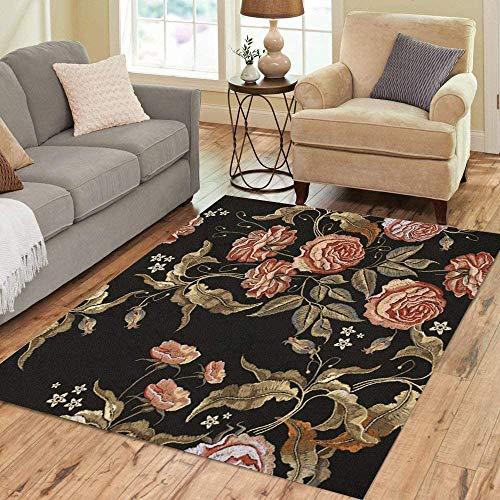 Anna-Shop gebied tapijt patroon rozen klassieke vintage knoppen van bloemen Renaissance huisdecoratie vloerkleed 84 x 60 inch tapijt