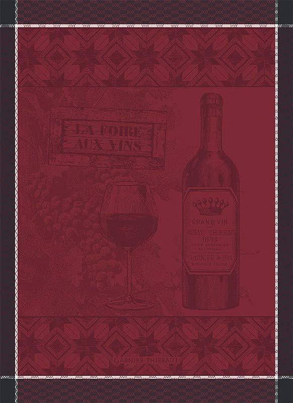 Garnier Thiebaut Foire Aux Vins Wine Fair Wine Festival French Jacquard Kitchen Tea Towel