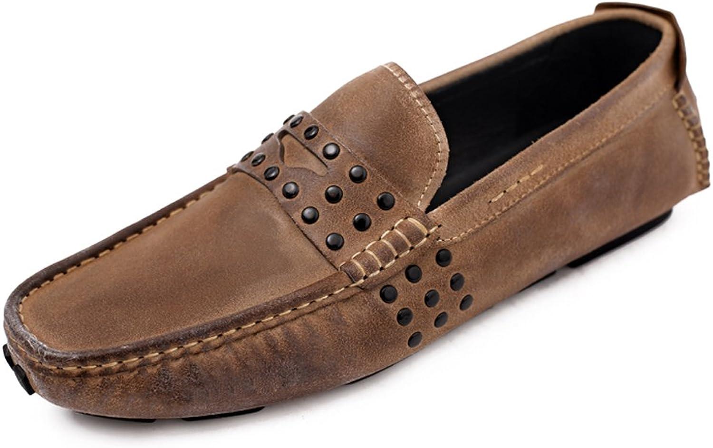 MEbox MEbox MEbox herr skor Rivet läder Lined Slip on Loafers  spara upp till 50%