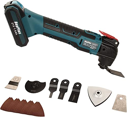 new arrival Cordless discount Oscillating Multi Tool Kit Portable Rechargeable Power Tools with 22-Piece Accessories Saw Blades Sanding Paper, 6 Variable Speed 20000RPM 4° Oscillating online Angle outlet sale