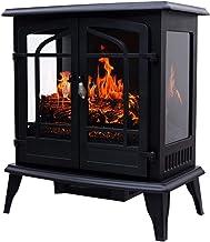 Chimenea eléctrica Calentador de chimenea por infrarrojos de pared 1800 W Potente calefacción de habitaciones grandes con sistema de calentamiento rápido 3S Chimenea portátil para uso en interiores