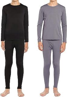 لباس زیر لباس گرم حرارتی پسران ViCherub به خط آستین بلند کودکان و نوجوانان