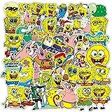 DUOYOU /Set Divertido Caricatura Amarillo Personajes Pegatinas Para Draw-Bar Marco Juguetes Niños Diy Coches Mochila Patín Ordenadores /50Pcs