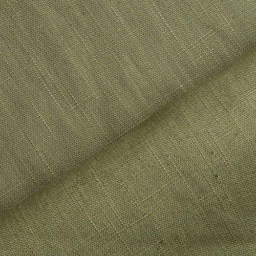 (8,99€/m) Holmar - Lino - Prelavado - Translúcido - Por metro (verde oliva)