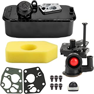 Harbot 795477 Carburetor 494406 Fuel Tank with Air Filter Tune Up Kit for Briggs & Stratton 498809 498809A 795469 794147 699660 794161 498811 Engine