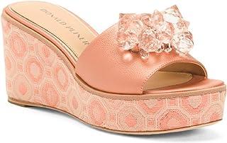 Donald J Pliner Salmon Pearlized Nappa Idina Sandal Size:7.5
