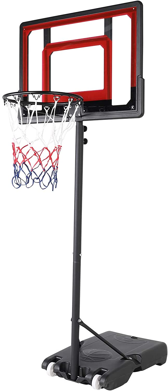 MORESAVE Portable Basketball Hoop Stand Adjustable Height Rare with Translated