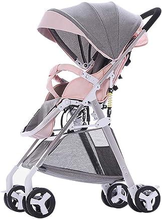 WDOPZMS Cochecito De Bebé For Niños - Cochecito De Bebé Sistema De Viaje De Silla De Paseo De Alta Vista, Cochecito De Paseo Plegable Plegable De Cuatro Ruedas Ligero - 5.1 Kg (Color : C)