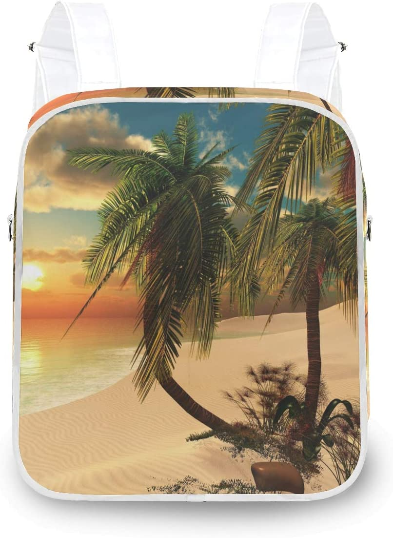 MOFEIYUE Max 47% Popular brand in the world OFF Women Backpack Tropical Beach Shoulder Palm Tree School