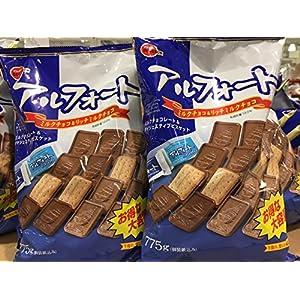 """ブルボン アルフォートミルクチョコ&リッチミルクチョコ 大容量775g×2袋"""""""