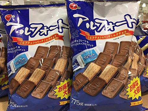 ブルボン アルフォートミルクチョコ&リッチミルクチョコ 大容量775g×2袋