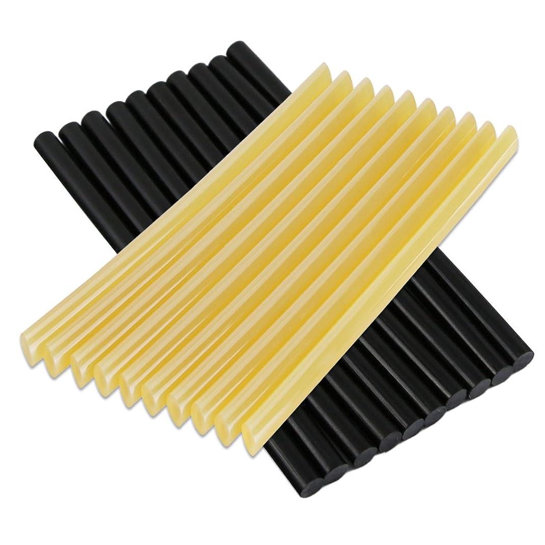 健康納得させるヒロインManelord グルースティック ホットメルト デントリペア用品 接着剤 グルーガン用スティック 長さ27センチ*直径0.7センチ 黒色&黄色20本入り