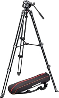 Manfrotto MVK500AM Lightweight Fluid Video System with Twin Legs and Middle Spreader (Black)