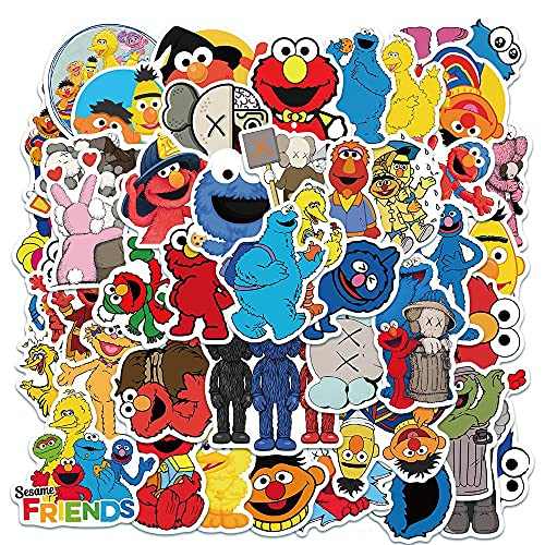 Preschool Education Puppetry Theme - 1 321 Sesame Non-Repeating, 50 pcs Street Animation Puppets Vinyl Stickers for Hydro flask Water Bottles Laptop Computer Skateboard Car Bumper Waterproof Decals for Kids Adult Teens Girls Boys……