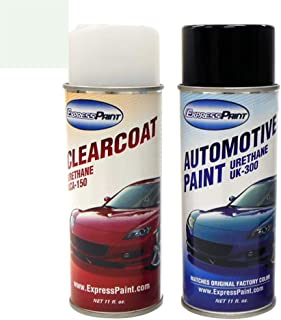 ExpressPaint Aerosol - Automotive Touch-up Paint for Ford Ranger - Oxford White Clearcoat YZ/M6466 - Color + Clearcoat Package