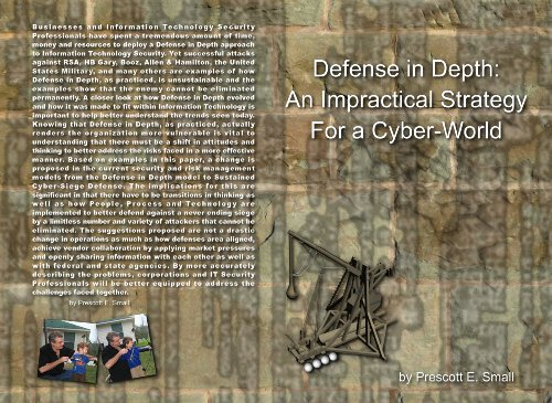 Amazon Com Defense In Depth An Impractical Strategy For A Cyber