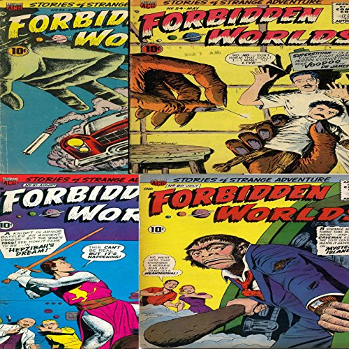 Forbidden Worlds. Issues 53, 54, 80 and 81. Stories of strange adventure. Voodoo, Mystery Island. (English Edition)