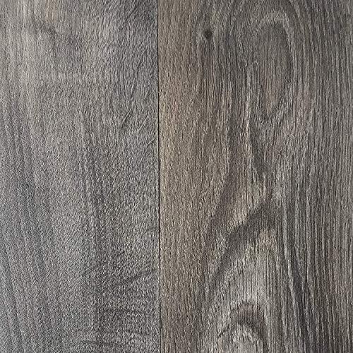 PVC Vinyl-Bodenbelag in rustikaler Holzoptik Schwarz/Anthrazit | PVC-Belag verfügbar in der Breite 3 m & in der Länge 3,0 m | CV-Boden wird in benötigter Größe als Meterware geliefert