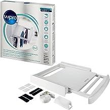 wpro SKP101 Waschmaschinenzubehör/ Verbindungsrahmen mit Ablage und Wäscheleine / Waschmaschine und Trockner/ Universell