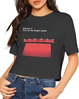 Womens Interpol Turn On The Bright Lights Adorable Music Band Short Sleeves Lumbar Tshirts Gift