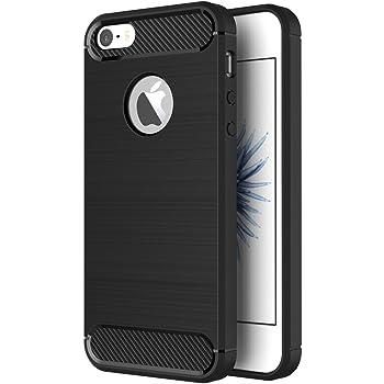 ZOFEEL Funda para iPhone 5 / 5s / se, Absorción de Choque Resistente y diseño de Fibra de Carbono Funda Case para iPhone 5 / 5s / se Negro Mate
