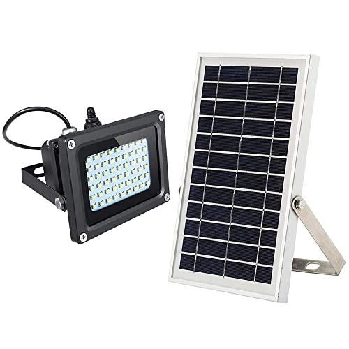 Solar Flood Light,JPLSK Dusk to Dawn 6W Solar Panel 54Leds IP65 Waterproof Solar Powered