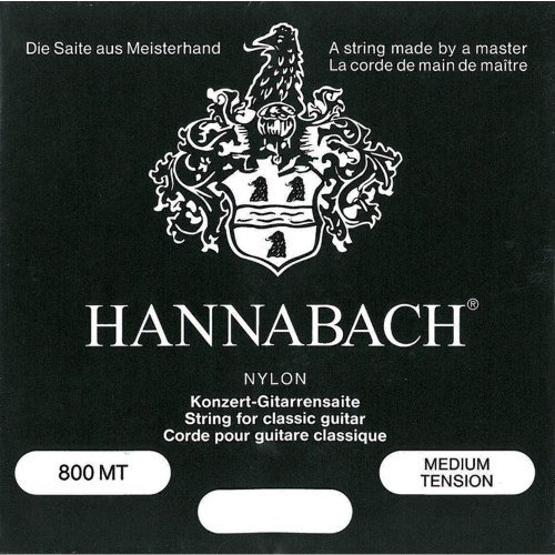 Hannabach 800 MT Konzert - Doppel D - Medium Tension - Schwarz