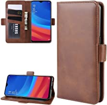 For Oppo A5s (AX5s) Double Buckle Crazy Horse Business Mobile Phone Holster with Card Wallet Bracket Function New(Black) XIEcute (Color : Brown)