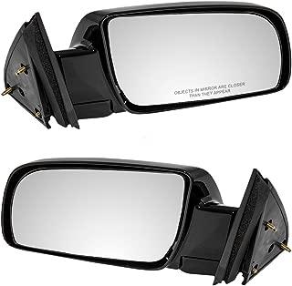 Pair Set Manual Side View Mirrors w/Metal Bases Replacement for Chevrolet GMC Pickup Truck Blazer Suburban Yukon Tahoe 15764759 15764760