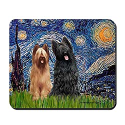 starry night briard mouse pad