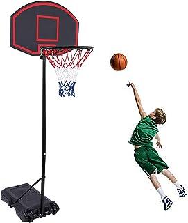GreenGee Portable Basketball Hoop Portable Mini Basketball Hoop System for Kids(US Stock) Height Adjustable(5.8-7.4 ft) Ba...