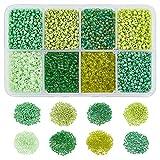 NBEADS 1 Caja (sobre 12500pcs) 12/0 Ceilán Cristal Redondo Seed Beads Loose Spacer Beads para Joyas Hacer