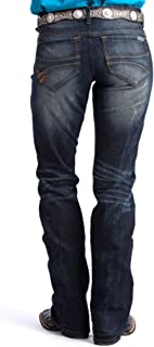Julia Dark Wash Mid Rise Cowgirl Jeans