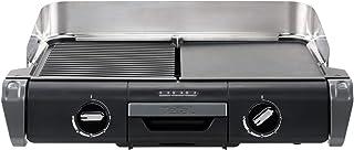 Tefal Barbecue Électrique Family Flavor 2en1, BBQ de Table, Grill Plancha, Thermostat Réglable, 2 Surfaces de Cuisson, 240...