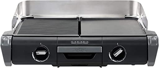 Tefal Family Flavor TG804D14 Elektrische grill, 2-in-1, tafelgrill, plancha, thermostaat verstelbaar, 2 kookvlakken, 2400 W