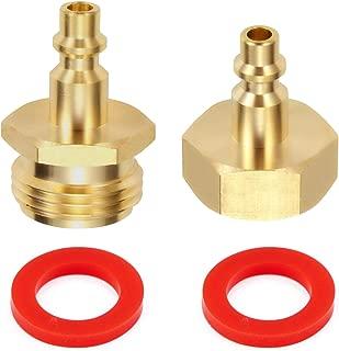 Litorange 2 PCS Lead-Free Brass Winterize Sprinkler Systems: Air Compressor 1/4