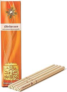 Ohrkerzen 4 Honig-Salbei aus Bienenwachs mit Filter - zur Reinigung MADE IN GERMANY