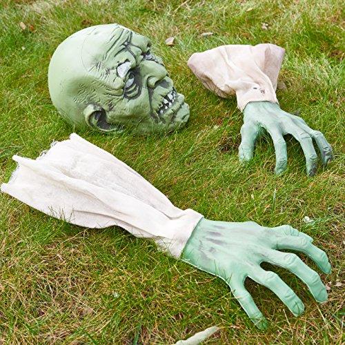 Prextex Faccia e Braccia Zombie Paletto Giardino per Cimitero Halloween Fantastica Decorazione per Halloween