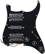 BQLZR Black Loaded Pickguard HSH 3Ply Scratch Plate for Humbuckers Guitar