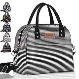 Newox Sac Isotherme Repas Lunch Bag Lunch Box Portable Sac à Déjeuner en Tissu Imperméable Pliable Sac Pique-Nique Multi-Usages à l'École au Travai Les Femmes/Les Hommes/l 'école/Le Bureau.