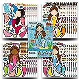 25 PCS Children's Cartoon DIY Sticker Sheets,Kids Party Favor Supplies Craft,Let...