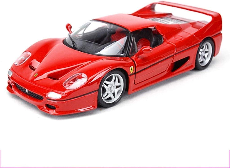 YaPin 1 24 Ferrari Racing Classique Modèle De Voiture De Sport Simulation Et Métal Modèle De Voiture OrneHommests D'envoyer des Cadeaux Très Convient pour Les Cadeaux des Enfants ( Couleur   F50 )