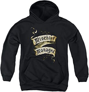 Harry Potter Mischief Managed Unisex Youth Pull-Over Hoodie for Boys and Girls