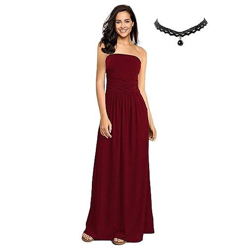 702bfba43222 BUOYDM Donna Vestiti Eleganti da Sera Lunghi Vestito a Tubino Maxi Abito da  Cocktail Formale Banchetto