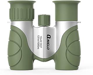 QNIGLO Kids Binoculars, 10x22 Shockproof Compact Binoculars for Kids, High Optics Small Binocular for Kids Bird Watching O...