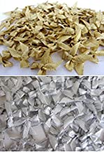 100 Assorted Smallest Gold & Silver Ribbon Bows Size 20 mm. Tiny Embellishment Craft Artificial Applique Wedding