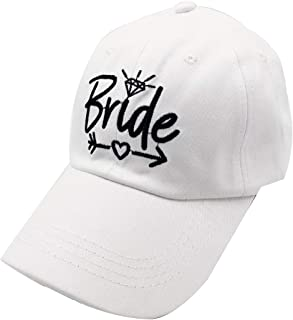 LOKIDVE Bride Hat Embroidered Distressed Tribe Baseball Cap for Wedding Party