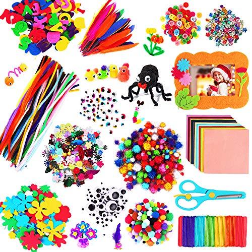 aovowog 1600+ Kit Manualidades Niños,Juegos de Manualidades,DIY Materiales Supplies Arts Crafts Manualidades...